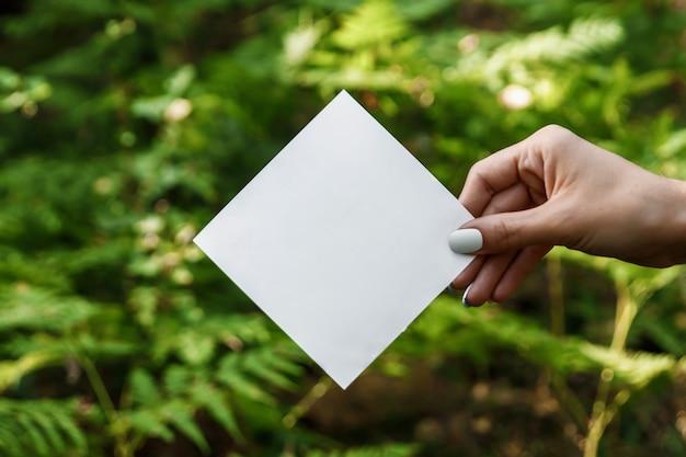Cadre de papier losange