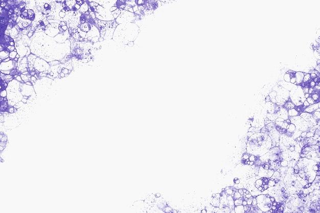 Cadre de peinture à bulles violet style bricolage