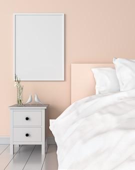 Cadre photo blanc sur le mur
