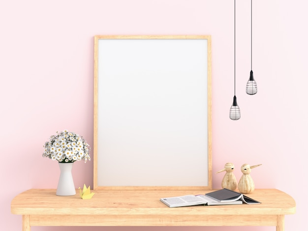 Cadre photo blanc pour maquette