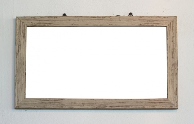 Cadre photo en bois avec espace vide pour photos ou œuvres d'art