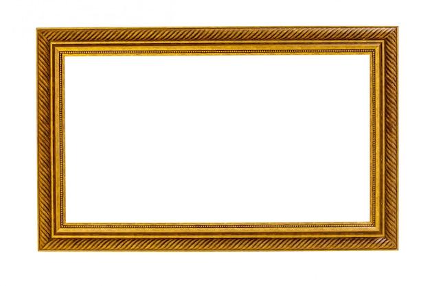Cadre photo doré traditionnel dans un style vintage antique