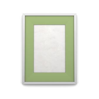 Cadre photo avec encart vert isolé