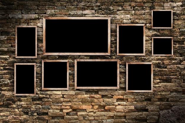 Cadre photo sur le mur de briques