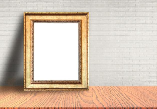 Cadre photo posé sur la table
