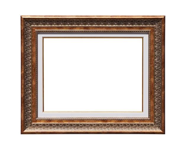 Cadre photo rétro isolé sur fond blanc