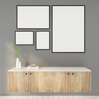 Cadre photo avec table d'appoint minimale