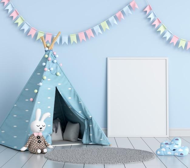 Cadre photo vide dans la chambre d'enfant