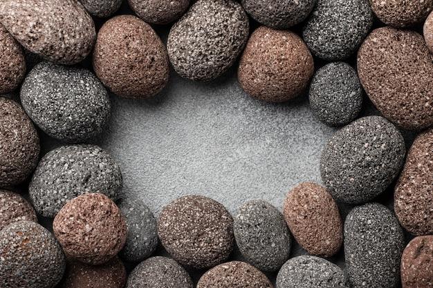 Cadre de pierres vue de dessus