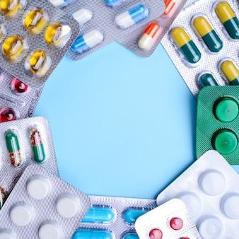 Cadre de pilules et capsules
