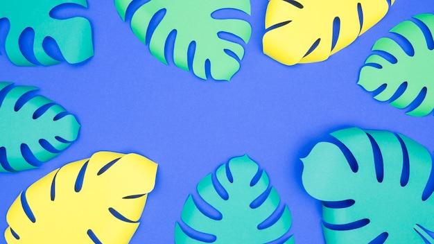 Cadre plat ou feuilles de papier