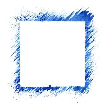 Cadre de pochoir carré bleu isolé sur fond blanc