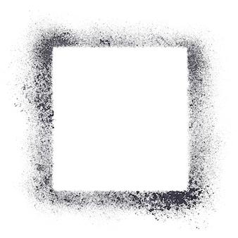 Cadre de pochoir carré isolé sur fond blanc
