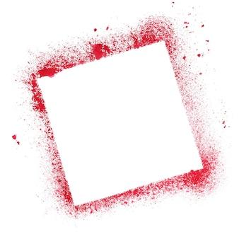 Cadre de pochoir carré rouge isolé sur fond blanc