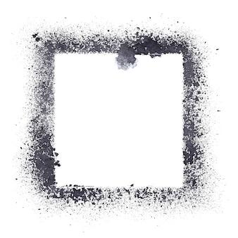 Cadre de pochoir isolé sur fond blanc - illustration raster