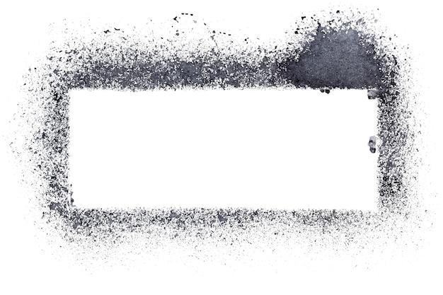 Cadre de pochoir vierge isolé sur fond blanc - illustration raster