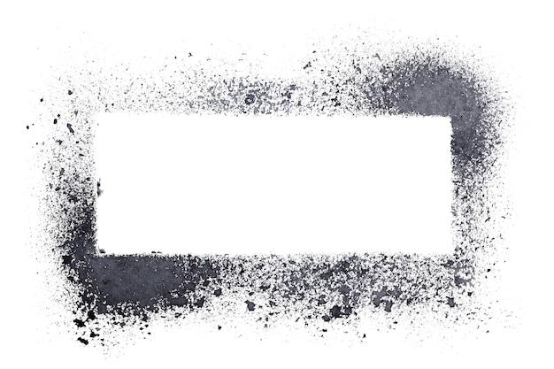 Cadre de pochoir vierge isolé sur fond blanc
