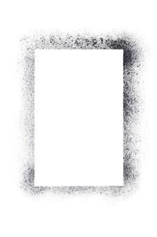 Cadre de pochoir vierge vertical isolé sur fond blanc - illustration raster