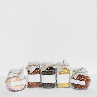 Cadre de pots à condiments avec espace copie