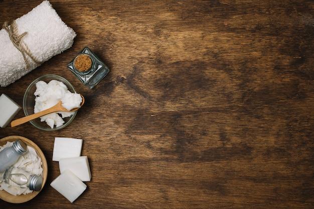 Cadre de produits d'huile de noix de coco