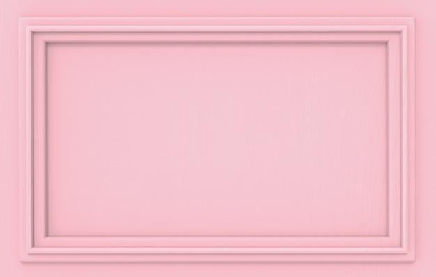 Cadre de rectangle moderne modèle classique rose vif moderne