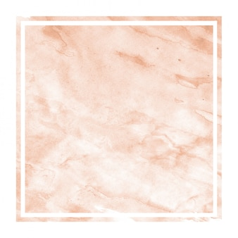 Cadre rectangulaire aquarelle dessiné main orange