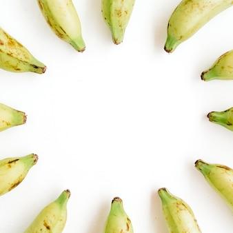 Cadre rond en bananes
