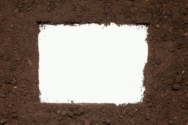Cadre de sol naturel vue de dessus
