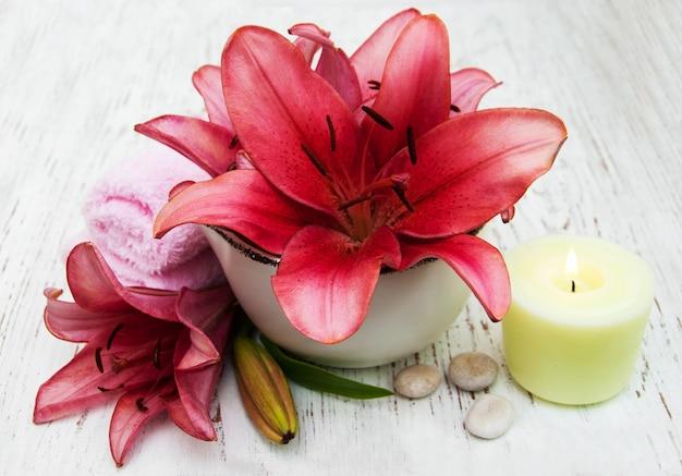 Cadre de spa avec fleur de lys