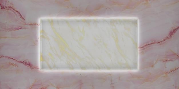 Cadre de studio de marbre pour l'affichage de produits et de contenu de rendu 3d de luxe