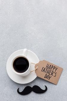 Cadre de tasse à café vue de dessus