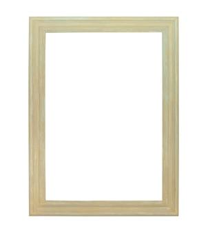 Cadre de toile de peinture blanche isolé sur fond blanc