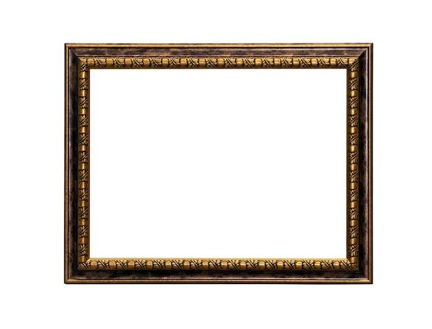 Cadre de toile de peinture classique isolé sur fond blanc