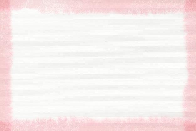 Cadre de trait de pinceau rose rectangle