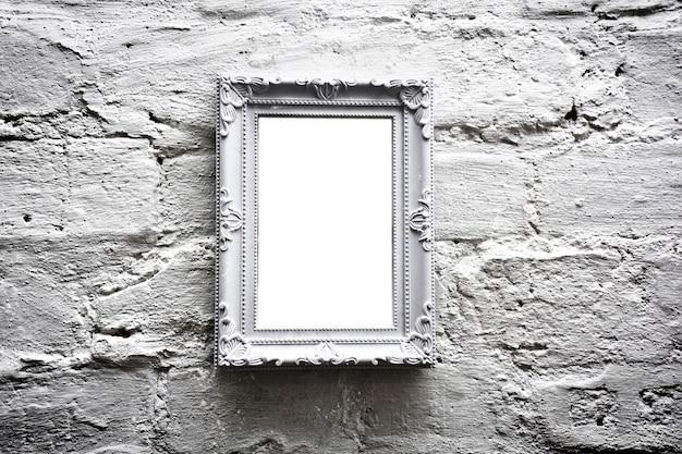 Cadre vide blanc avec espace de copie gratuit.