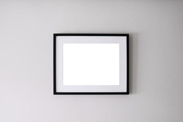 Cadre vide sur fond blanc