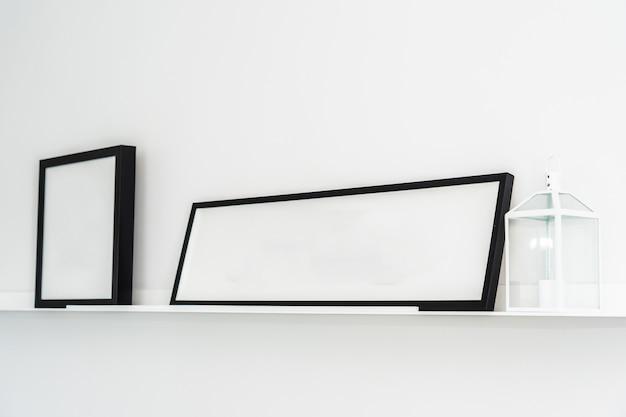 Cadre vide avec intérieur de décoration d'espace de copie
