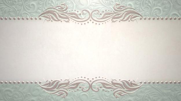Cadre vintage gros plan avec des fleurs, fond de mariage. illustration de style pastel élégant et luxueux