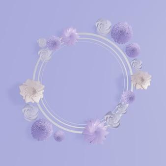 Cadres floraux. fond de couronne florale