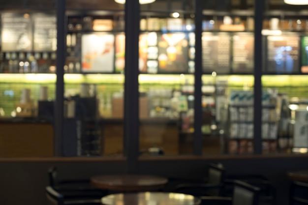 Café au café blur, restaurant au bokeh.