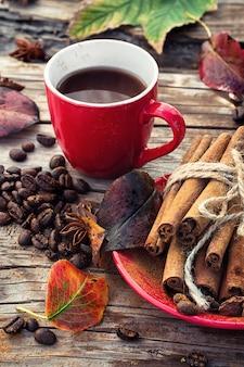 Café à l'automne