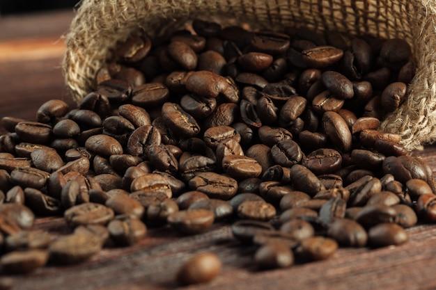 Café sur bois grunge