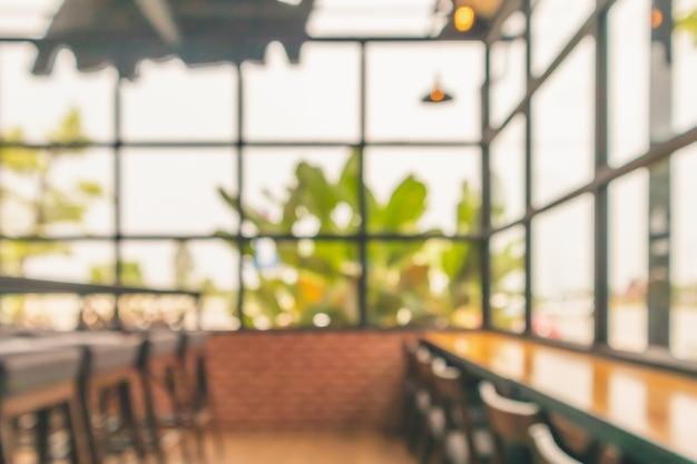 Café café intérieur flou abstrait défocalisé avec fond clair bokeh