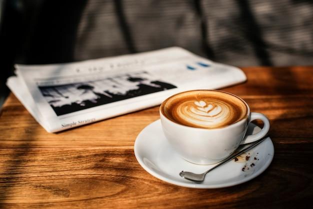 Café café latte cappuccino journal concept