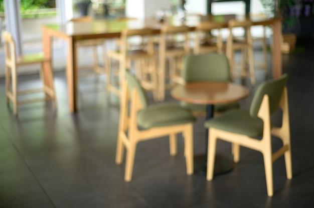 Café, comptoir, café, restaurant, intérieur, brouillé