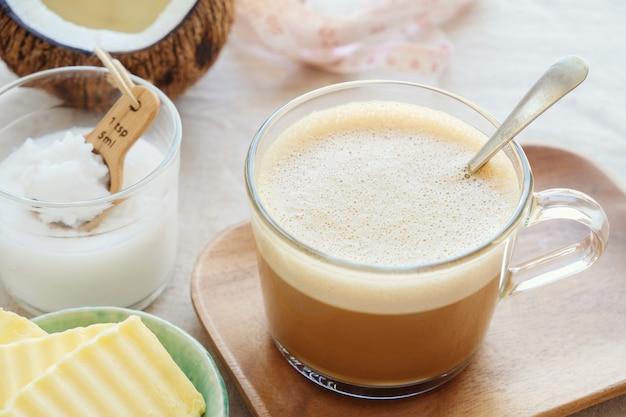 Café à l'épreuve des balles, boisson cétogène
