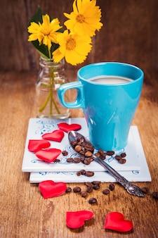 Café et fleurs
