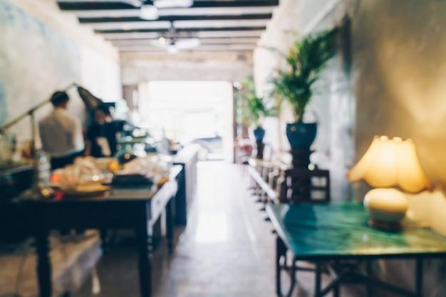 Café flou abstrait et café-restaurant pour le fond
