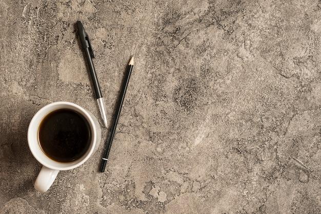 Café et fond