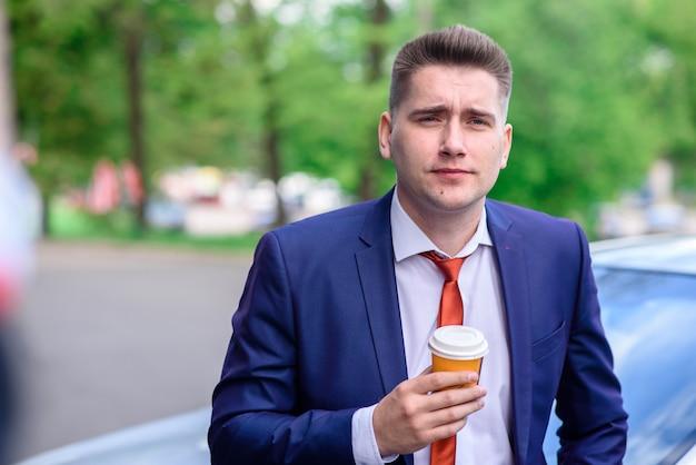 Café, homme affaires